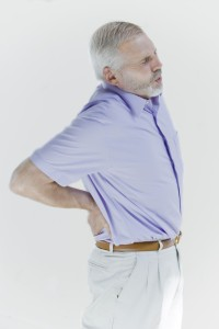 Man suffering with lower back pain